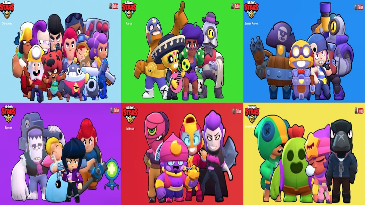 All Characters In Brawl Stars Brawlers